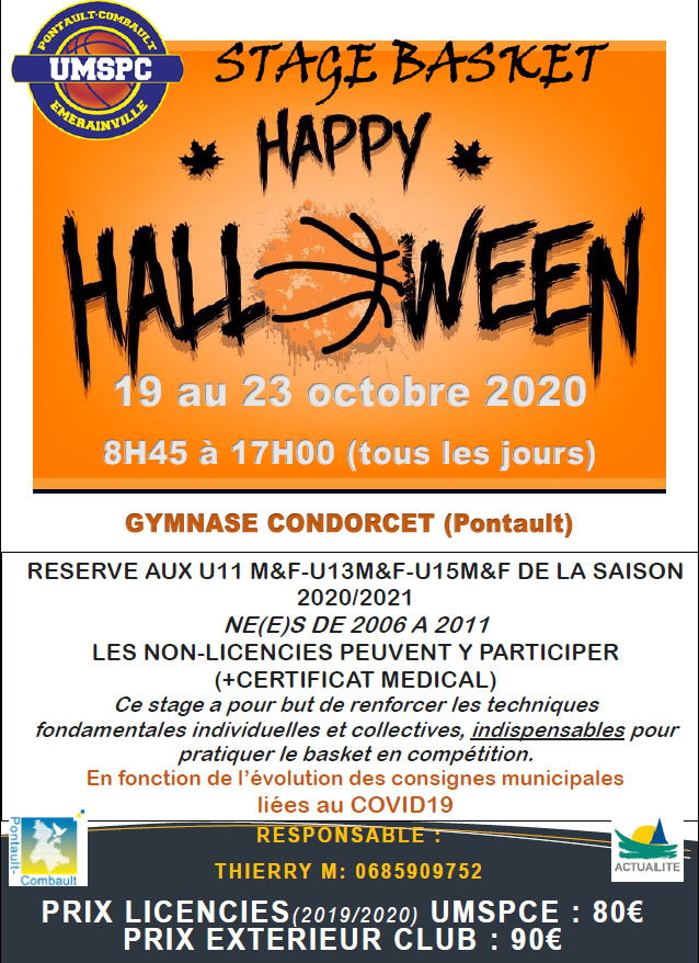 Stage Basket Octobre 2020